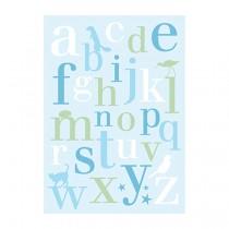 Karte ABC Blau