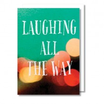 "Alicia Bock Klappkarte ""Laughing all the way"""