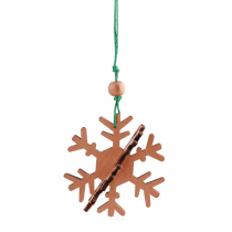 Snowflake Anhänger 3D Copper