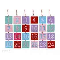 Holzschildchen mit Zahlen