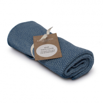 "Aspegren Handtuch ""Knit with Love"" Blend Dark Blue"
