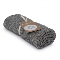 "Aspegren Handtuch ""Knit with Love"" Blend Dark Grey"