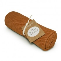 "Aspegren Handtuch ""Knit with Love"" Solid Pumpkin"