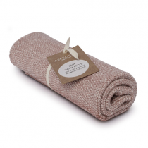 "Aspegren Handtuch ""Knit with Love"" Blend Light Mauve"