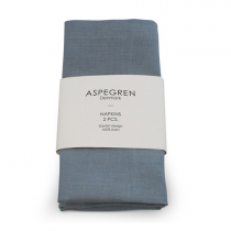 Aspegren Leinen Servietten Set Dream Blue