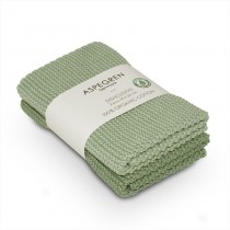 "Aspegren Spültuchset ""Organic Cotton"" Laurel Green"