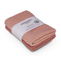 "Aspegren Spültuchset ""Organic Cotton"" Solid Clay"