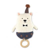 Strickspieluhr Eisbär mit Hut
