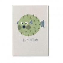 "Karte Ava & Yves Kugelfisch ""Happy Birthday"""