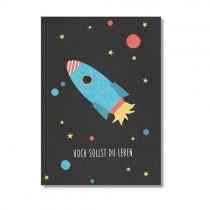 """Karte Ava & Yves Space """"Hoch sollst du Leben"""""""