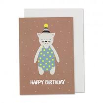 """Klappkarte Ava & Yves Katze """"Happy Birthday"""""""