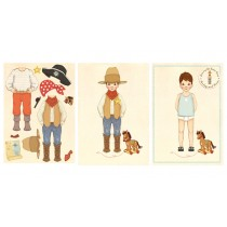 Dressing Up Sticker Jumbo Karte Cowboy