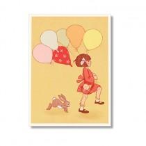 """Karte Belle and Boo """"Balloon"""""""