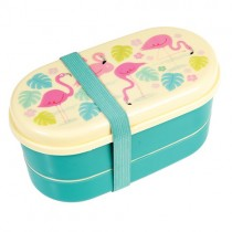 "Bento Box ""Flamingos"""