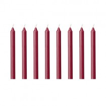 Kerzen Set 13cm Bordeaux Rot