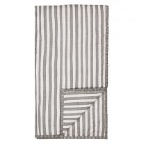 ORGANIC Plaid mit grauen Streifen