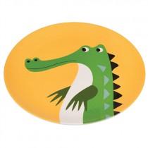 Bunte TIERFREUNDE Melamin Teller Krokodil
