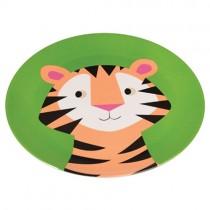 Bunte TIERFREUNDE Melamin Teller Tiger