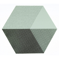"Tischset ""Hexagon"" Mint"