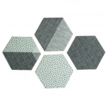 "Untersetzer Set ""Hexagon"" Mint"