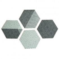 "Untersetzer Set ""Hexagon"" Mint"