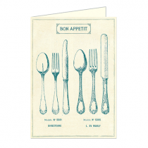"Cavallini Klappkarte ""Bon Appetit"""