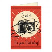 """Cavallini Klappkarte """"Smile! It's your birthday!"""""""