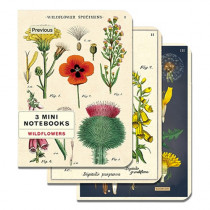 Mini Notebook 3er Set Wildblumen
