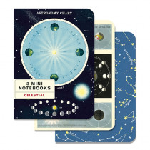 Mini Notebook 3er Set Astronomie