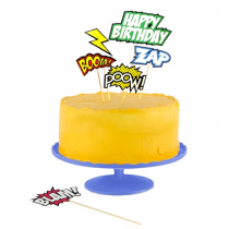 Comic Cake Toppers Set