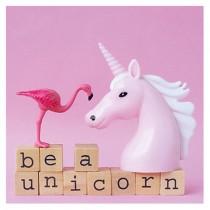 "Flamingo Grußkarte ""Be a Unicorn"""
