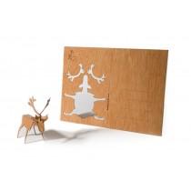 Holzbastelkarte Rentier