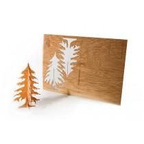 Holzbastelkarte Tanne