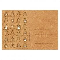 Holzbastelkarte 24 Tannen