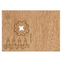 Holzbastelkarte Adventskranz