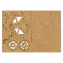 Holzbastelkarte Fahrrad