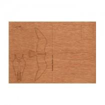 Holzbastelkarte Möwe