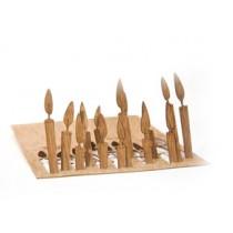 Holzbastelkarte Kerzen