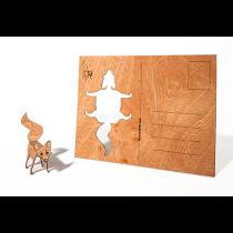 Holzbastelkarte Fuchs