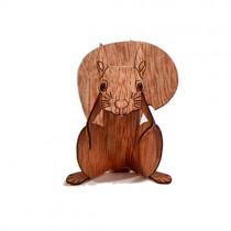 Holzbastelkarte Eichhörnchen