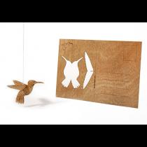 Holzbastelkarte Kolibri