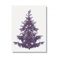 Frohstoff Karte Tannenbaum Blau