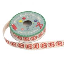 Geschenkband mit roten Eulen