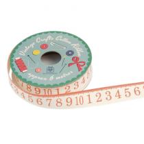 Geschenkband mit Zahlen