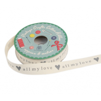 "Geschenkband ""All my love"""