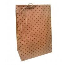 Geschenktütchen mit roten Sternen groß
