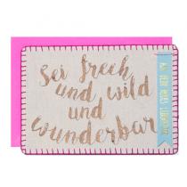 """Stoffpost """"Sei frech, wild und wunderbar"""""""