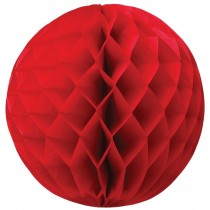 Großer Honeycomb Rot 39cm