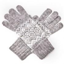 Angora-Woll Handschuhe Nordic Grau
