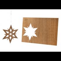 Holzbastelkarte Doppelstern